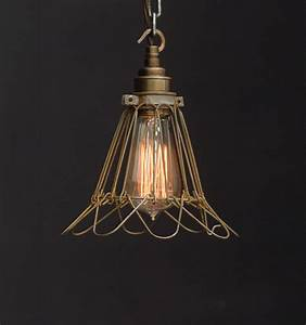 Es trouble cage industrial pendant vintage lighting