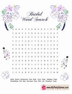 free printable wedding word search game With wedding shower word search