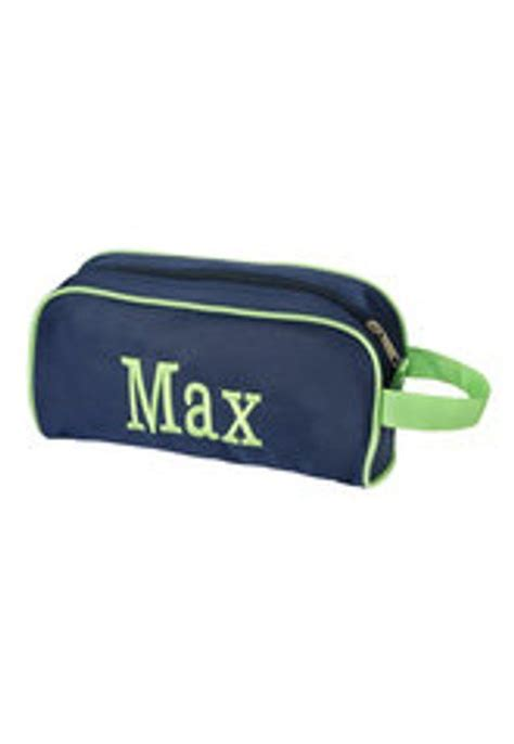 blue  green toiletry bag  golf accessory bag monogrammed personalized