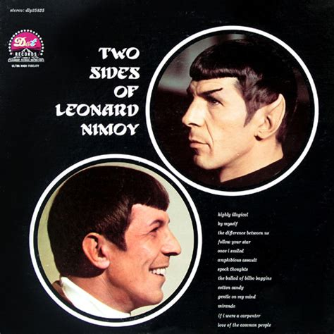 leonard nimoy discogs leonard nimoy the two sides of leonard nimoy vinyl lp