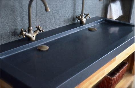 lavabo pour cuisine vasques en granit noir yate shadow à poser 120x50