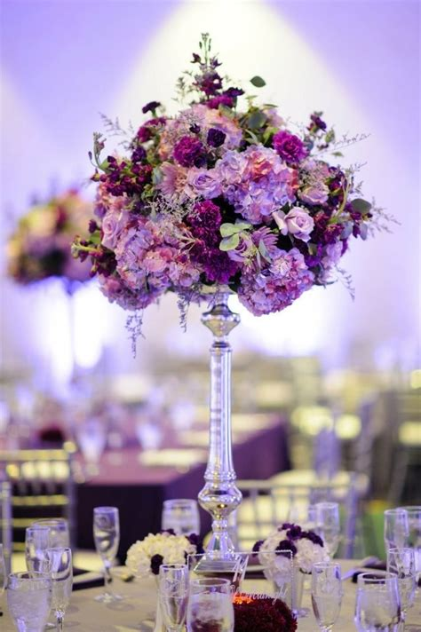 Tall Purple Centerpiece Florist Events In Bloom Photo