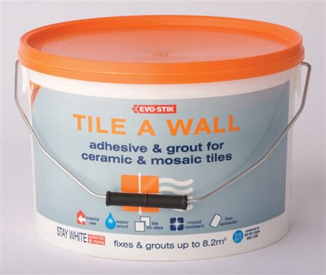 evo stik tile a wall waterproof adhesive grout for
