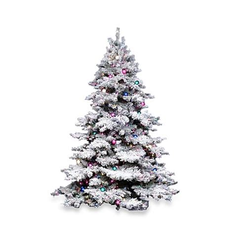 vickerman snowy alaskan cluster tree buy vickerman 6 5 foot flocked alaskan pine pre lit tree with clear lights from bed