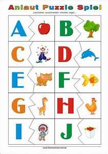 Spiele Fuer Kinder : anlaut puzzle spiel f r vorschulkinder und erstklasse kinder ideen pinterest ~ Buech-reservation.com Haus und Dekorationen