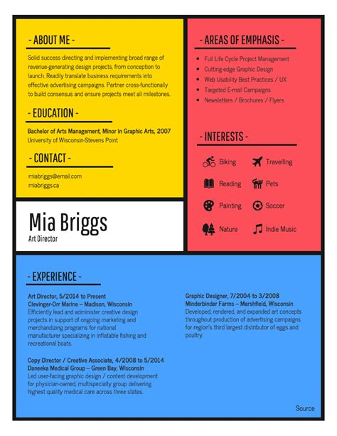 Graphic Resume Templates by Resume Graphic World Of Reference