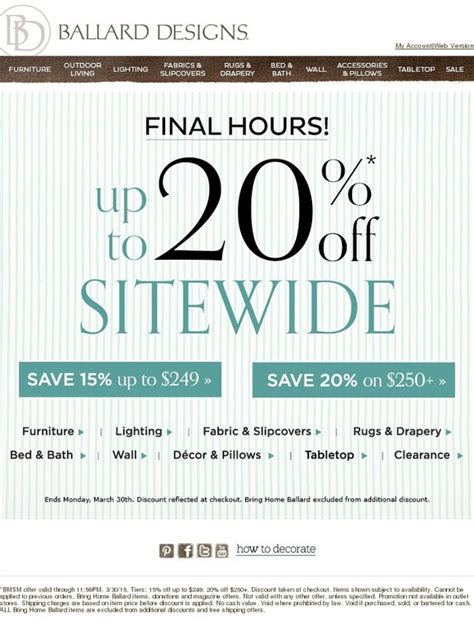 Ballard Designs Hurry, You Still Have Time To Save Up To