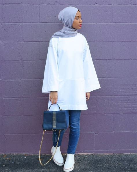 idees de tunique hijab moderne  chic pour vos