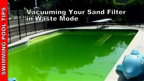 Vacuuming Your Sand Filter In Waste Mode, Sand Filter Part