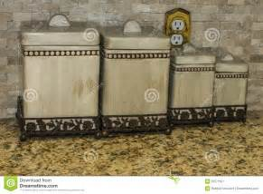 kitchen counter canisters kitchen canisters stock image image 35571651