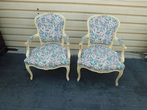 50924 Pair French Country Bergere Decorator Armchair S