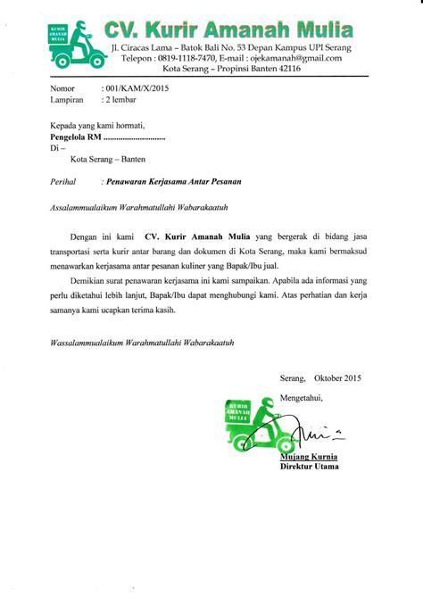 contoh surat penawaran barang produk jasa