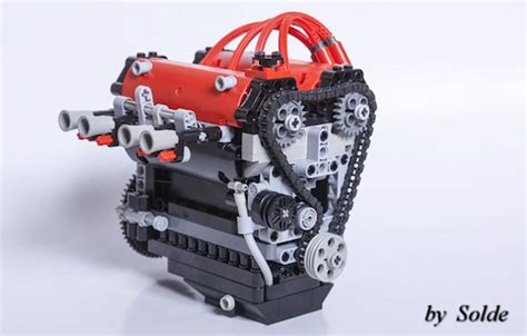 Toyota 4A GE engine made in Lego    Toyota