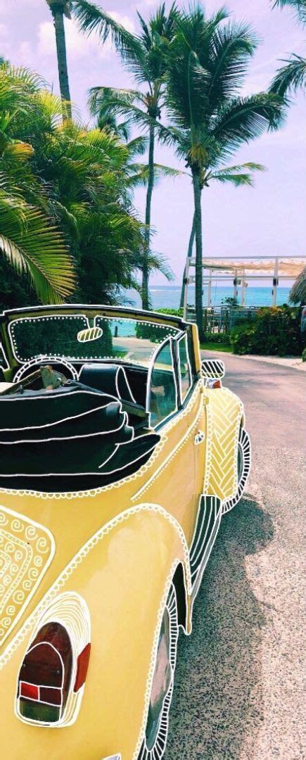 yellow jeep car edit bug beach summer sunshine