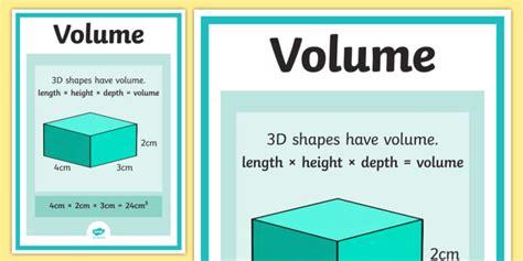 volume poster maths numeracy display visual aid ks2