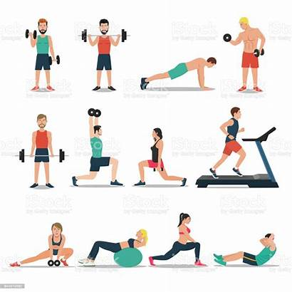 Workout Cardio Background Vector Weightlifting Illustration Bodybuilding
