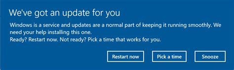 turn    windows update restart notifications