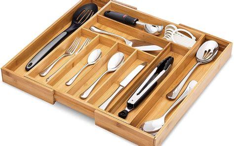 flatware tray kitchen drawer organizer adjustable guide compartments buying bonus