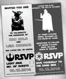 traditional wedding invitation wording may the fourth black and white wars wedding