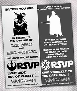 alternative wedding unique pastiche events With star wars wedding invitations etsy
