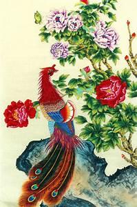 Chinese Phoenix Painting phoenix 2336114, 69cm x 46cm(27 ...