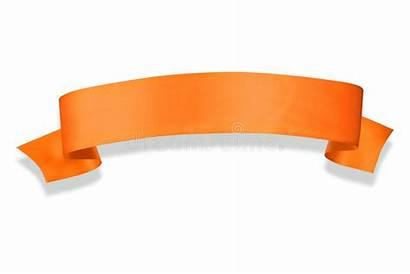 Banner Ribbon Orange Illustration Elegance Shadow Dreamstime