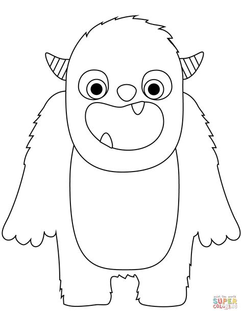 Monster coloring page Free Printable Coloring Pages