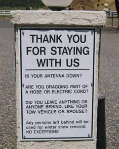 Funny RV Camping Signs