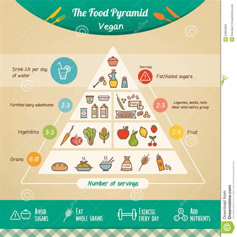 The Vegan Food Pyramid Stock Vector Illustration Of