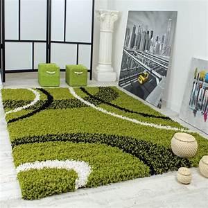 Langflor Teppich Weiß : shaggy gemustert gr n hochflor teppiche ~ Frokenaadalensverden.com Haus und Dekorationen