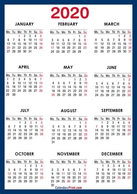 calendar printable usa holidays paper size blue