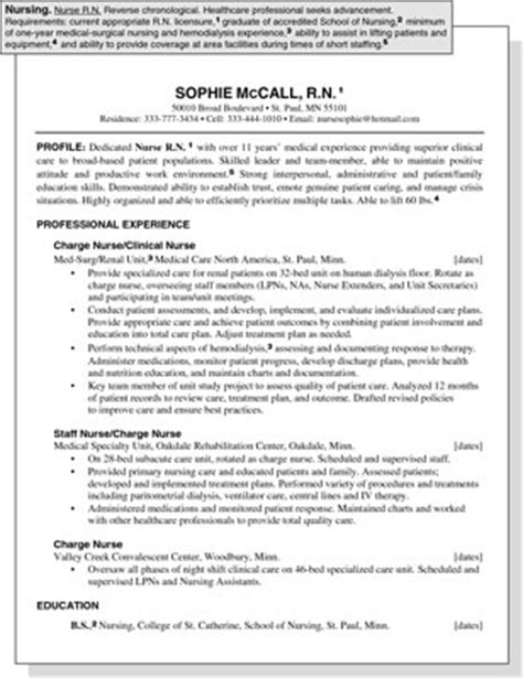 sle resume for a healthcare position dummies