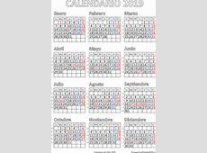 Calendario de Chile 2019 Imprimir el PDF Gratis