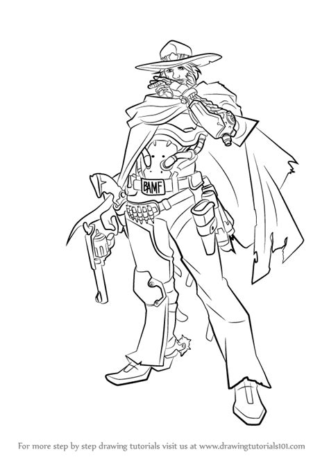 learn   draw mccree  overwatch overwatch step