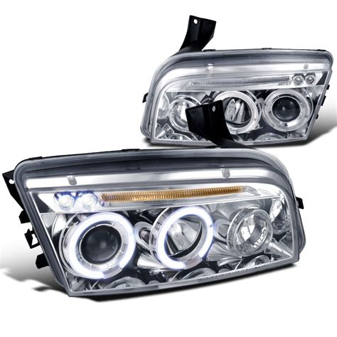 2005 2010 dodge charger eye halo led projector