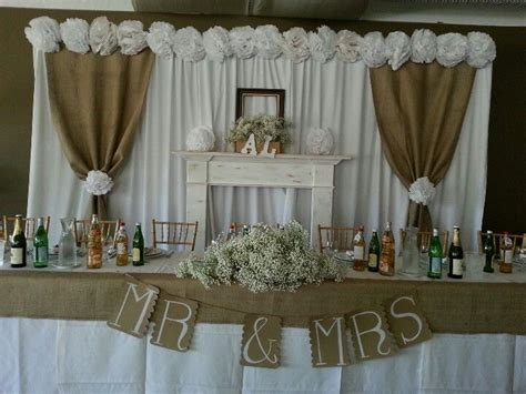 Burlap wedding Rustic wedding backdrops Diy wedding