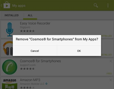 remove apps from android delete app history in the new android play app
