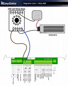Maglock To Nice A60 Panel Flattened In Magnetic Door Lock Wiring Diagram