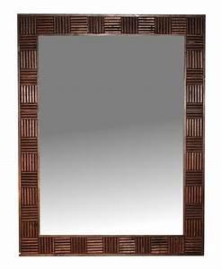 Cadre Bois 50x70 : miroir lanna en bois de teck 50x70cm cadres miroirs miroirs sur pied en bois de teck ~ Teatrodelosmanantiales.com Idées de Décoration