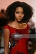 Model Gerren Taylor walks down the runway at the Richard ...