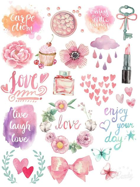 pastel colours  thame stickers printable  stickers