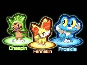 Chespin, Fennekin, and Froakie huh? - YouTube