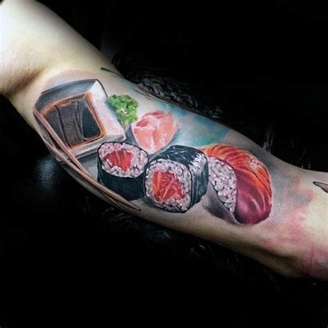 50 Sushi Tattoo Designs For Men   Japanese Food Ideas