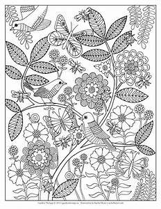 Free garden and bugs coloring pages
