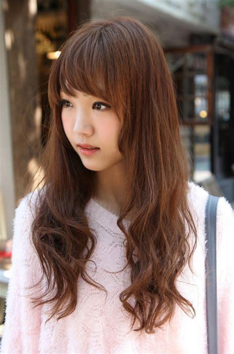 korean girls long hairstyle hairstyles weekly