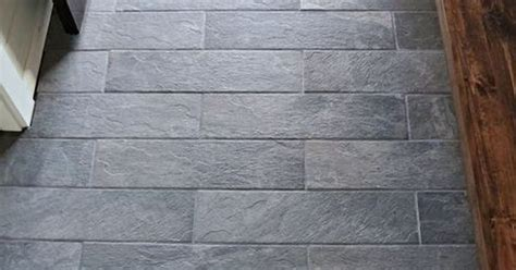 lowes ivetta porcelain black slate tile entryway tile