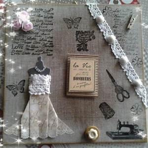 Petit Cadre Deco : petit cadre en scrap style couture d co bonheur ~ Teatrodelosmanantiales.com Idées de Décoration