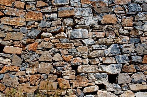 Alte Mauer Aus Steinen Im Alten Griechenland Insel Kreta