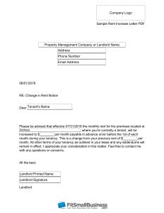 sle rent increase letter free templates