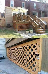 lattice under deck Cool Ways to Use Lattices for Inside or Outside Projects